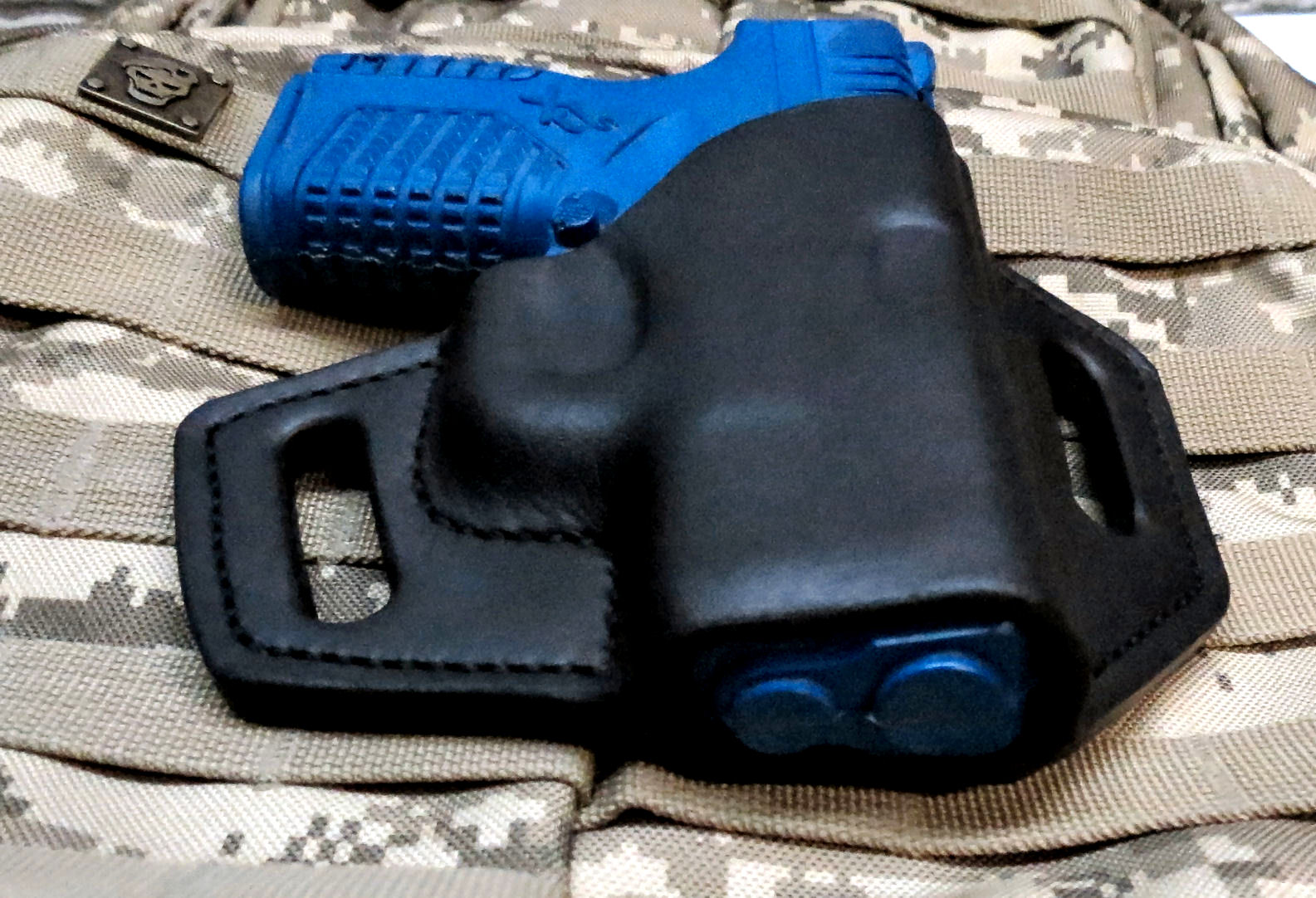 Springfield XDs 3 3, - 9mm &  45 Leather OWB Pancake Holster,
