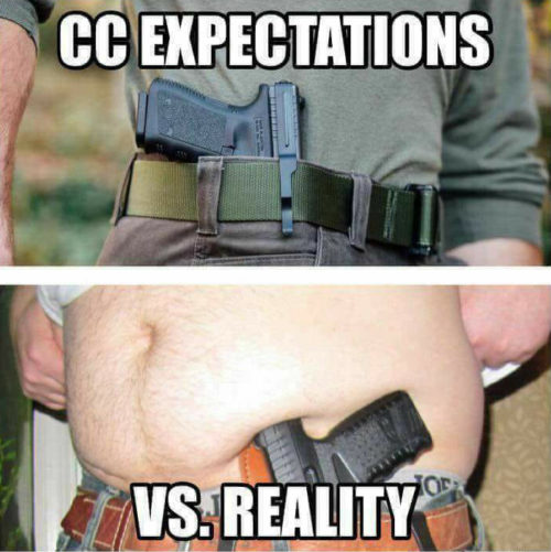 Concealed, Carry, Humor, Expectations, Meme, Overweight