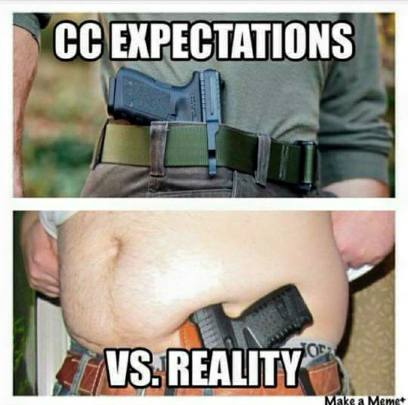 Concealed, Carry, Humor, Expectations, Meme