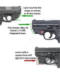 Shield, Laser, Holster, Crimson Trace, Pocket Holster, Custom Made