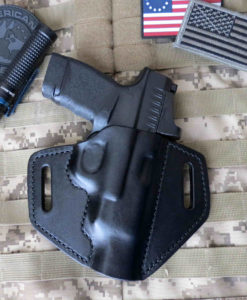 Springfield Hellcat RDP, Rapid Defense Package, Holster, Leather OWB