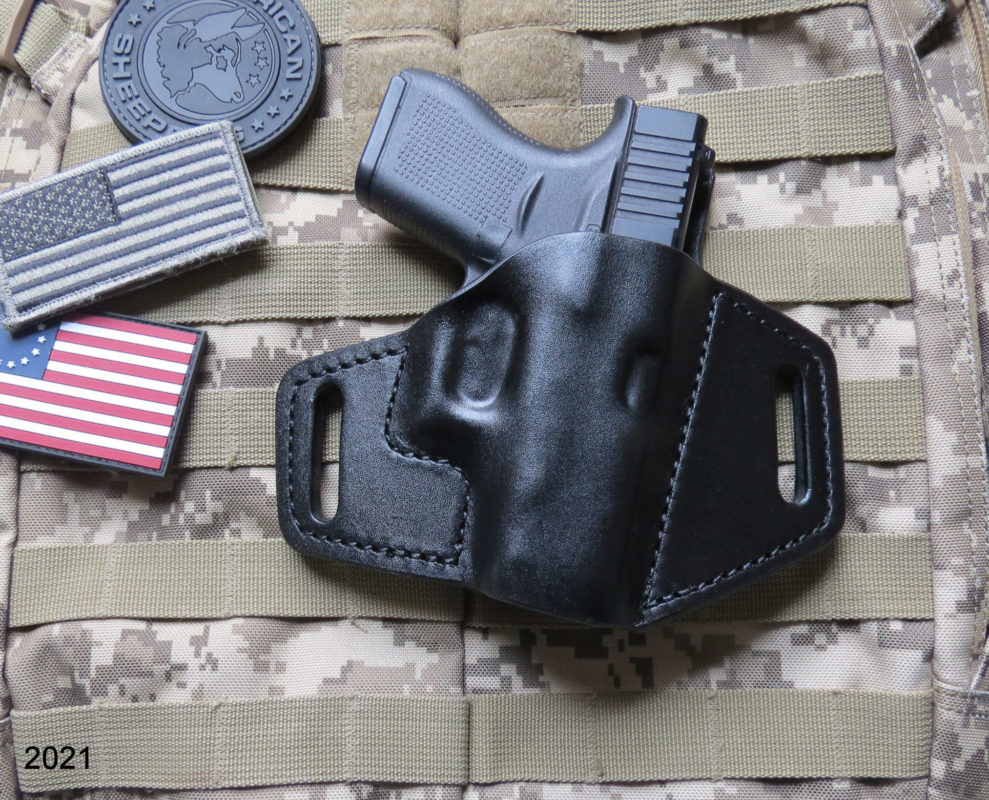 Glock 43, Leather Holster, OWB, New Pacifica Leather, Custom Holster