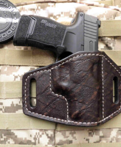 Sig, P365 XL, Vertical, OWB, Romeo, Red Dot, leather Holster