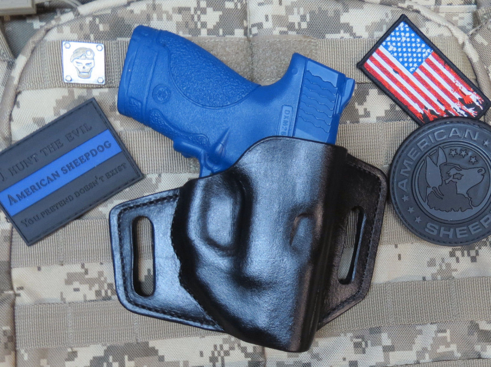 M&P Shield with Crimson Trace Laser leather Holster, 9mm &  40 OWB
